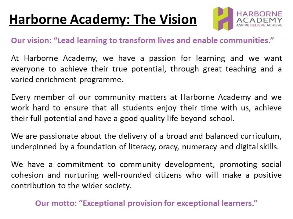 Vision slides for website need literacy blurb